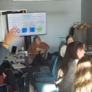 Akoulina Connell and participants at a workshop discuss the notion of value chain.